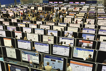 Aerial Photo of 2019 Poster Session in O'Connell Center
