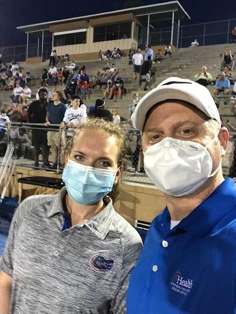 Drs. Zaremski and Fryar at High School Football Game